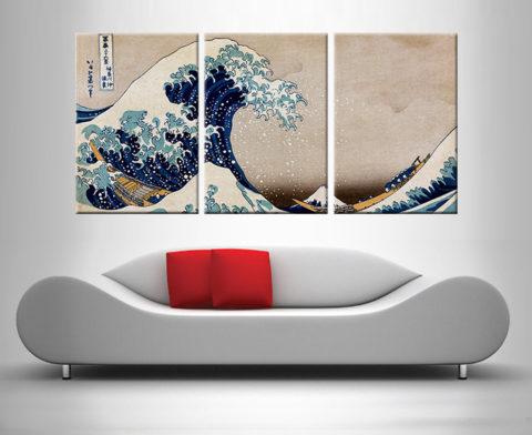 The Great Wave off Kanagawa custom art print online
