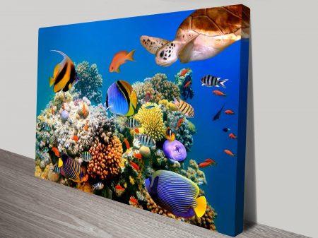 Coralscape Underwater Scene Wall Art