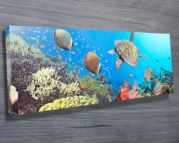 Underwater splendour panoramic canvas
