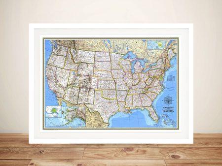 Personalised United States of America Push Pin Travel Map Art