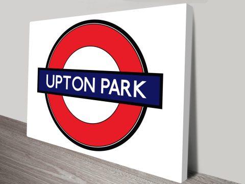 Upton Park London canvas print