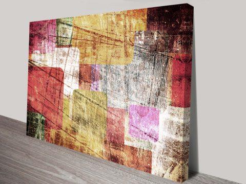 Urban Sprawl Canvas Abstract Wall Art