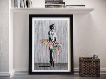 Street art ballerina Framed Wall Art