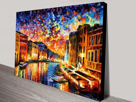 Venice Grand Canal Leonid Afremov Art Print