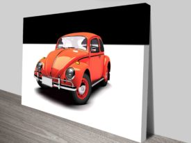 Red VW beetle art australia