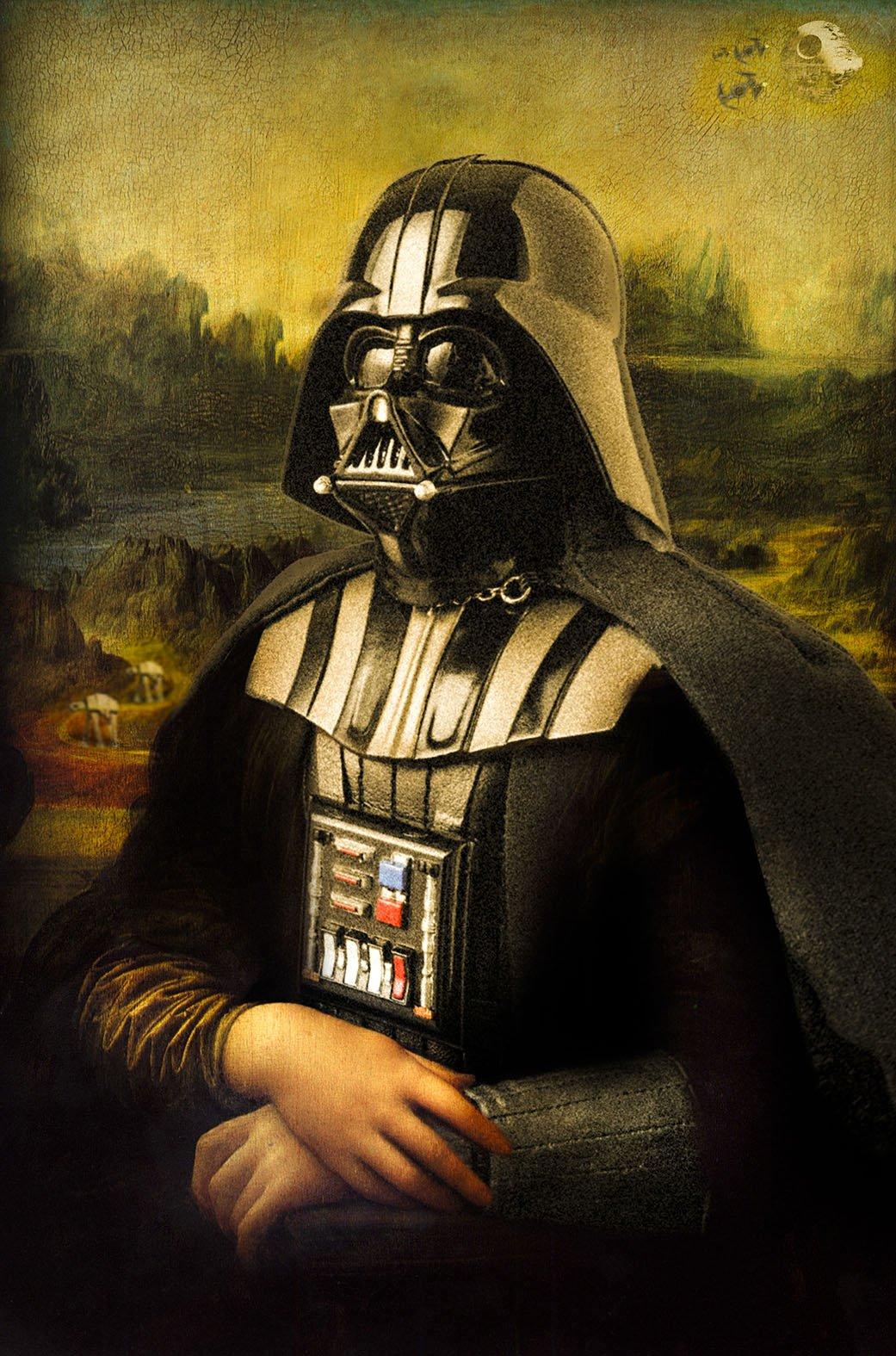 Mona Lisa Darth Vader Canvas Print Star War Art Wall Art