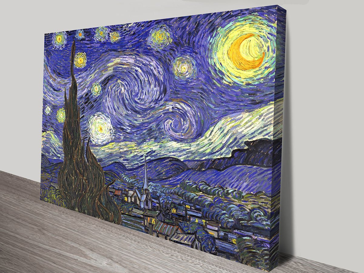 Vincent Van Gogh Starry Night Canvas Print Cheap Art