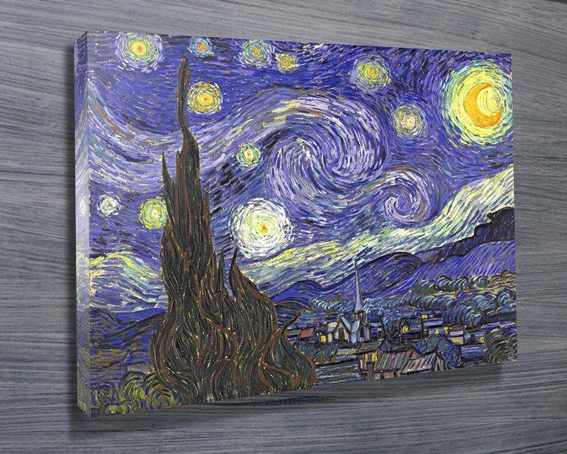 Van Gogh Starry Night Classical Wall Art On Canvas