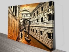 venice canvas print wall art
