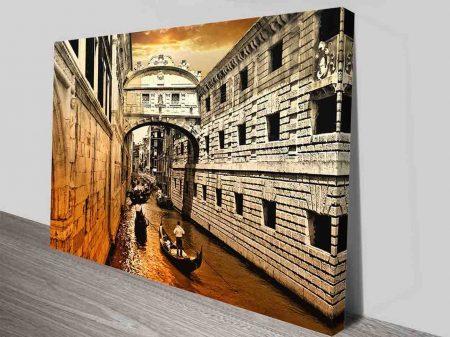 venice canvas print wall art