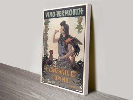Vino Vermouth vintage Canvas Print