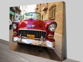 Vintage Car in Cuba Art print