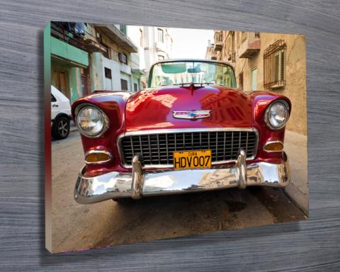 Vintage Car in Cuba print