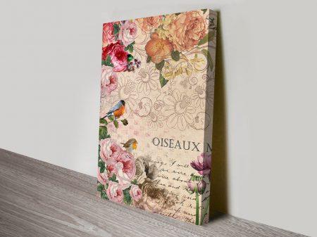 Vintage French Floral Art Work