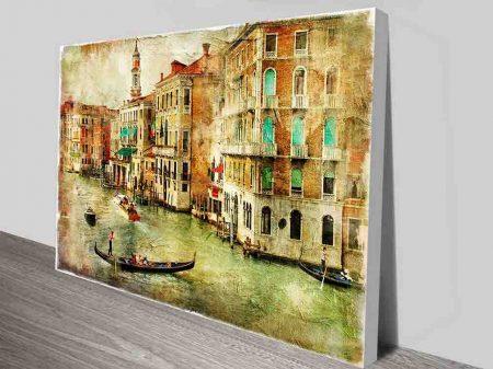 Vintage Venice Print on Canvas