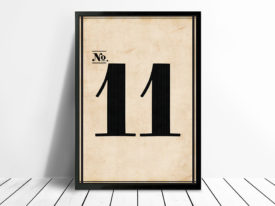 Vintage Framed Numbers Wall Art 11 Melbourne
