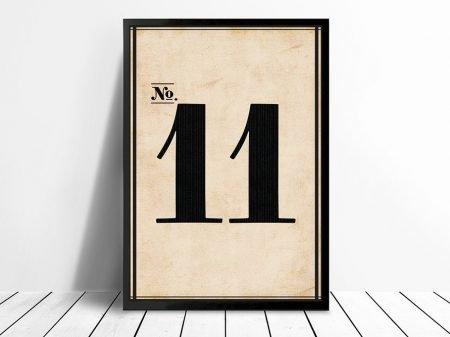 Vintage Framed Numbers Wall Art 11 Melbourne