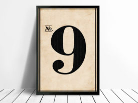 Vintage Wall Art Numbers 9