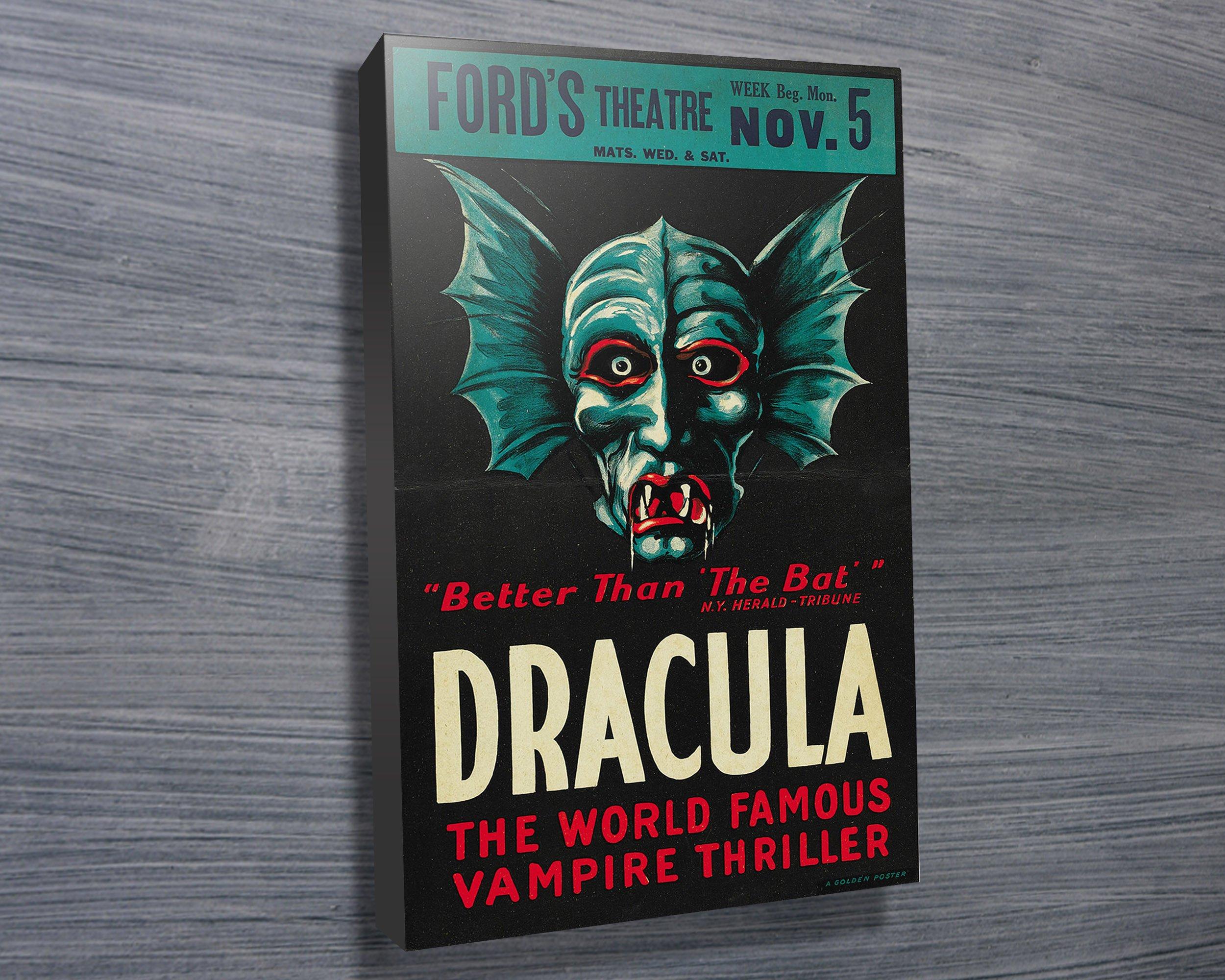 the original dracula movie poster canvas print blue horizon prints