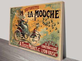 Voiturette La Mouche Vintage Advert Poster Australia