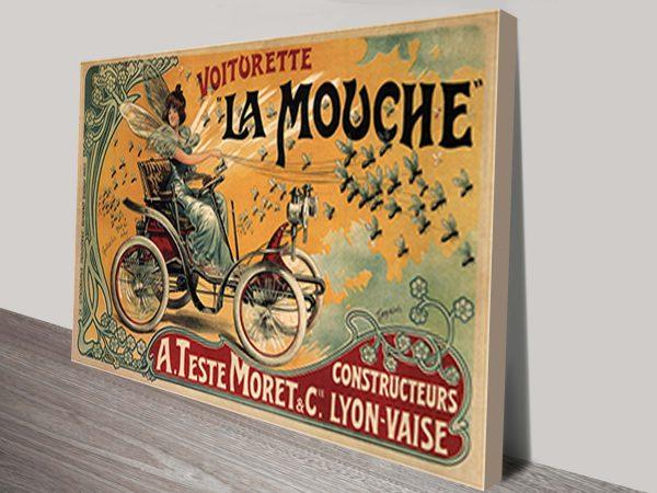 Voiturette La Mouche Vintage Advert Poster
