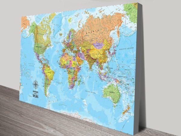 Bespoke Push Pin World Travel Map