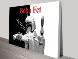 Boba Fett Popart Star Wars Art Canvas