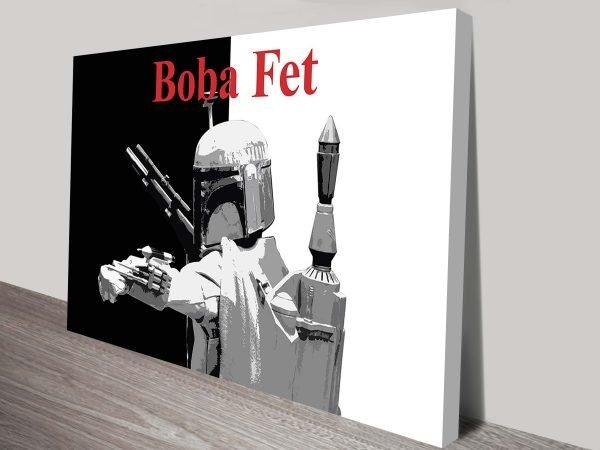 Boba Fett Popart Star Wars Art Canvas