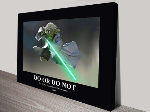 Yoda Star Wars Art Canvas Printing