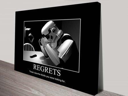 Star Wars Regrets Poster