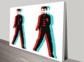 Warhol Doubled Elvis canvas art