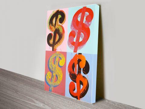 Warhol Dollar 8 Quad Vintage Pop Art