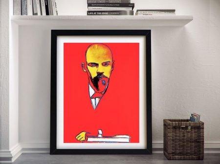 Warhol Red Lenin Framed Wall Art