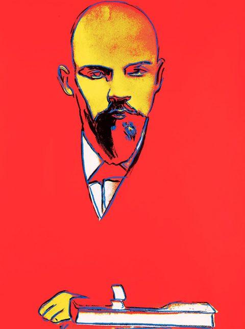 Andy Warhol Red Lenin Communist Pop Ar