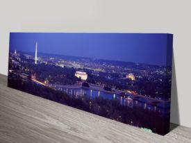 Washington DC Panoramic Canvas Print