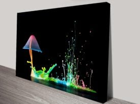 Water Mushrooms Abstract Canvas Wall Picture