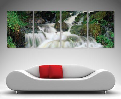 Waterfall Split canvas print art