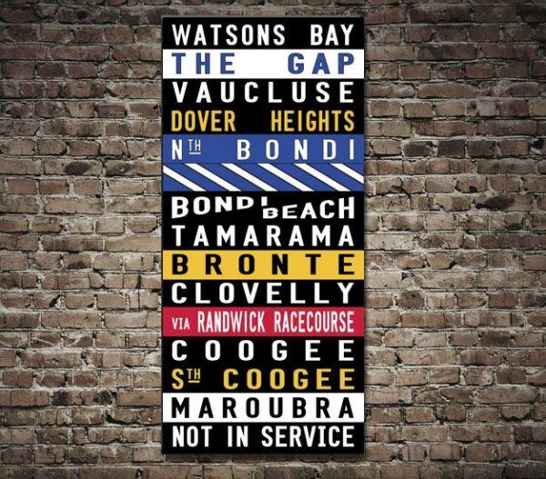 Watsons Bay Vintage Coloured Tram Art