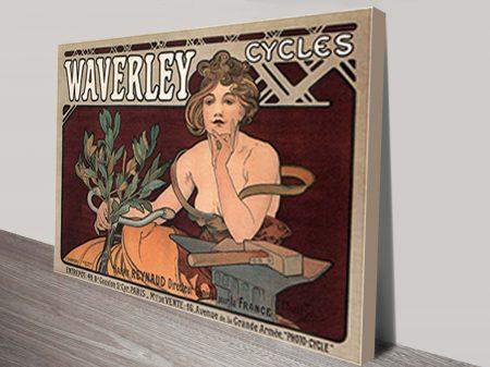 Waverley Cycles Mucha Wall Art