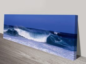 Waves panoramic canvas print
