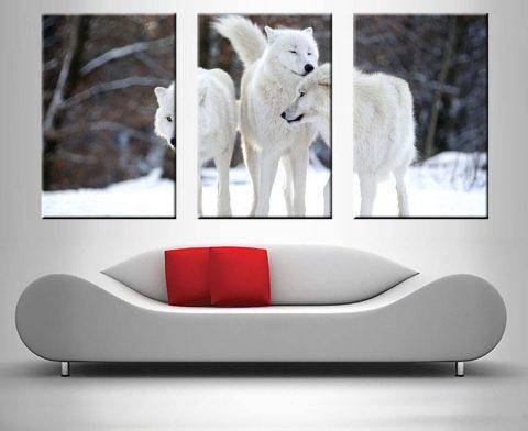 White Wolves 3 Panel