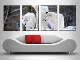 White Wolves 4 Panel