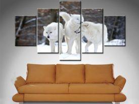 White Wolves 5 Panel