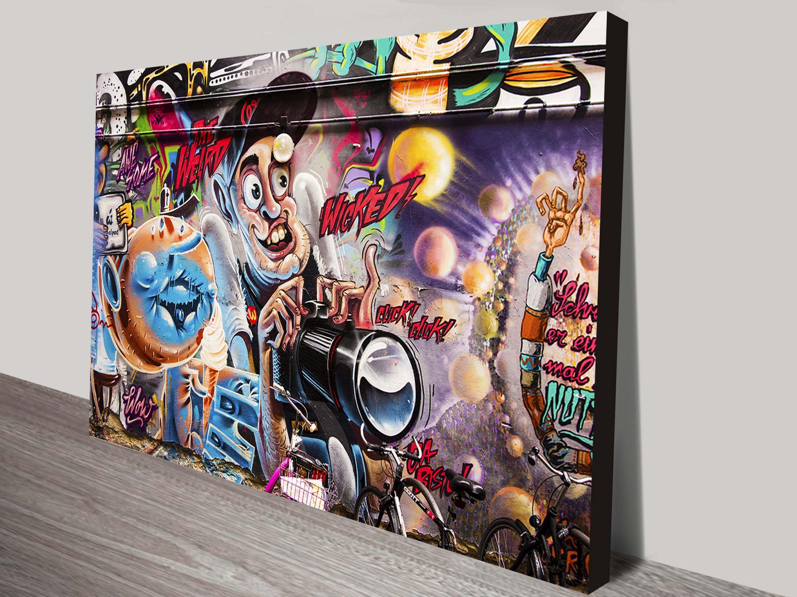 Graffiti Canvas Print Wall Art