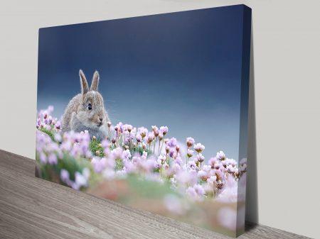 Wild rabbit wall art