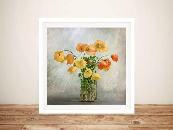In the Window Flower Landscape Art Canvas Prints