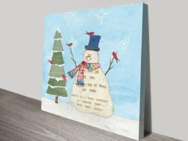 Winter Fun II Art Print on Canvas