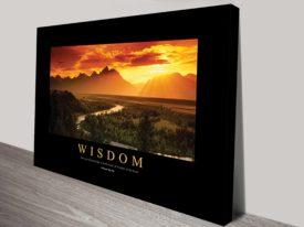 Wisdom motivational canvas print