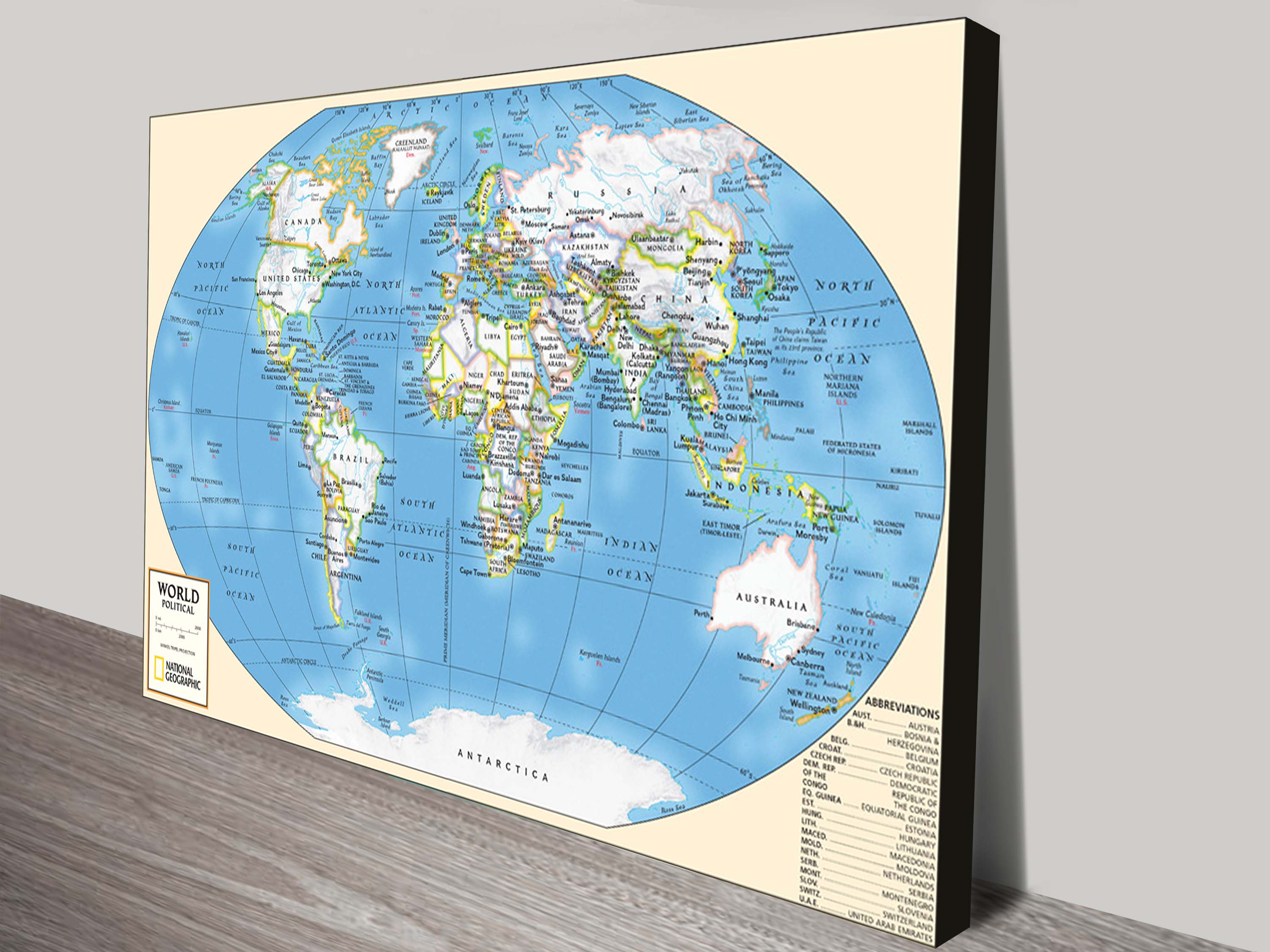 Buy world map canvas wall art picture sydney australia gumiabroncs Image collections