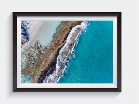 Yanchep Lagoon Western Australia Aerial Photo Framed Prints